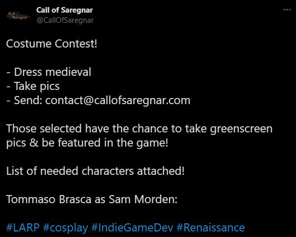 Call of Saregnar: Costume Contest
